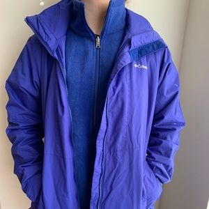 Columbia 3 in 1 jacket Interchange Size L Vibrant!